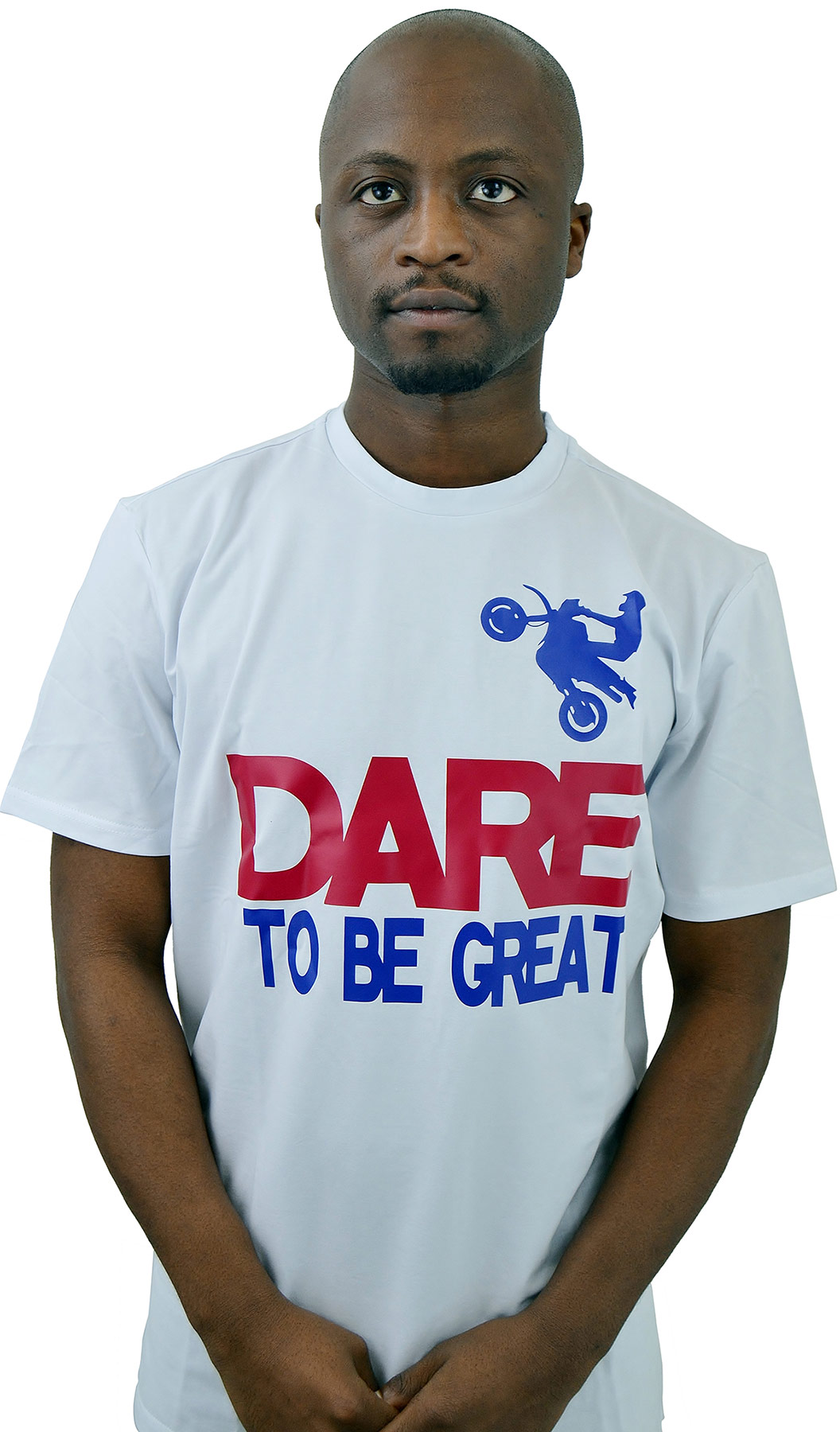 sporty messages t-shirt  u2018dare to be great u0026 39